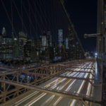 Manhatten from atop the Brooklyn Bridge