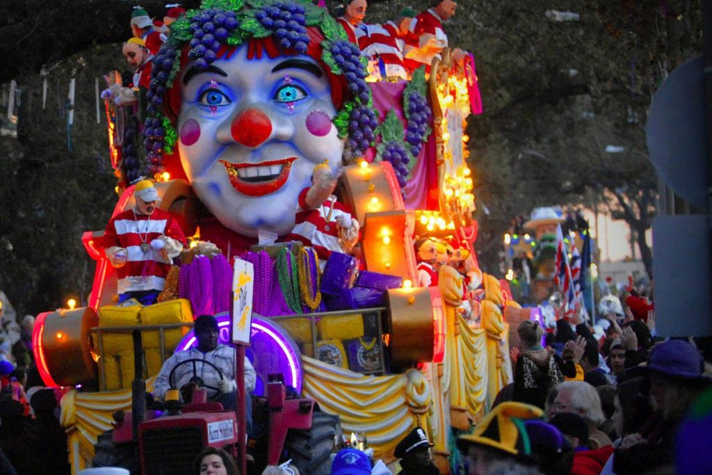 Float during Mardi Gras in New Orleans
